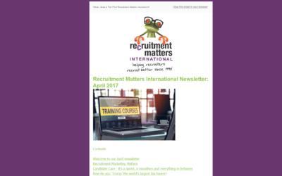 Recruitment Matters International Newsletter: October 2017