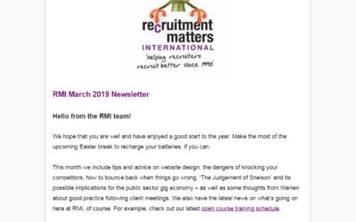 Recruitment Matters International Newsletter: March 2020