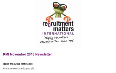 Recruitment Matters International Newsletter: November 2018