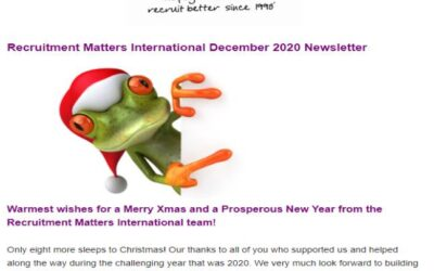 Recruitment Matters International Newsletter: December 2020